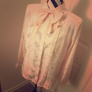 80s Pussy Bow Blouse